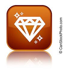 Diamond icon special brown square button