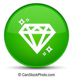 Diamond icon special green round button