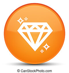 Diamond icon special orange round button