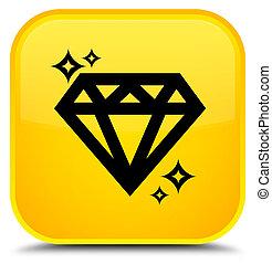Diamond icon special yellow square button