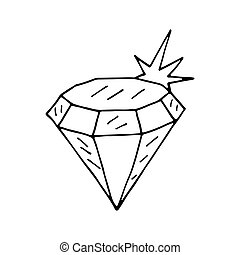 Diamond icon. Vector