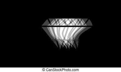 Diamond icon Vintage Twitched Bad Signal Animation.