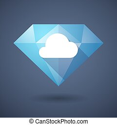 Diamond icon with a cloud