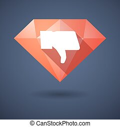 Diamond icon with a hand