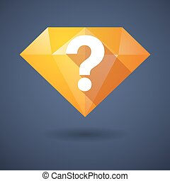 Diamond icon with a question sign