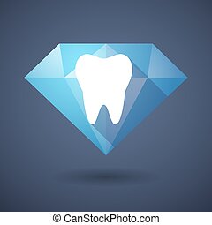 Diamond icon with a tooth