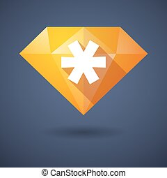 Diamond icon with an asterisk