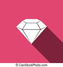diamond Icon with long shadow
