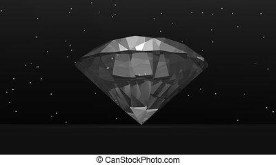 Diamond in the dark - 3D render