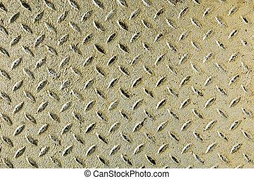 Diamond iron plate - Detail of a diamond iron plate suitable...