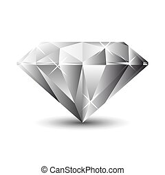 Diamond isolated on a white background. Vector Illustration