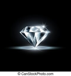 diamond isolated on black background