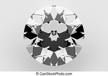 Diamond Isolated on White, 3D Rendering