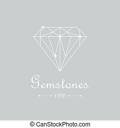 Diamond isolated on white