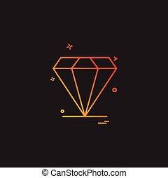 Diamond jewel icon design vector