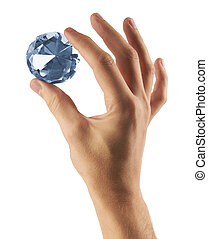 Diamond jewel in hand