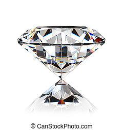 Diamond jewel isolated on white background