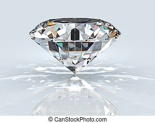 Diamond jewel with reflection