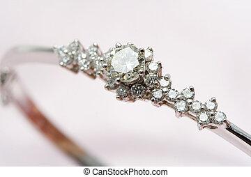 Diamond jewelry - A close up shot of a diamond jewelry