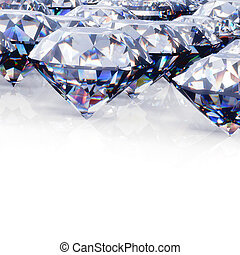 Diamond. Jewelry background - Round diamond. Jewelry ...