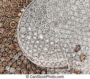 Diamond jewelry closup.