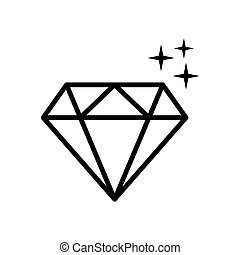 diamond - jewelry icon vector design template