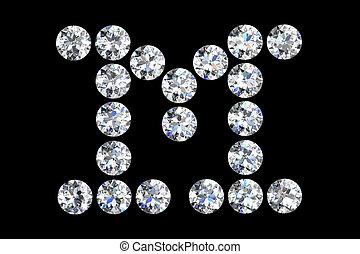 Luxury Jewelry Alphabet Diamonds M Images And Stock Photos 37