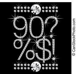 diamond letters with gemstones 00008 - vector diamond...
