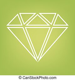 Diamond line icon