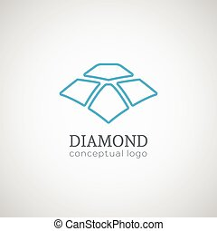 Diamond logo isolated on white illustration. - Diamond logo....