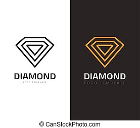 Diamond logo vector illustration, jewel icon, jewelry brand...