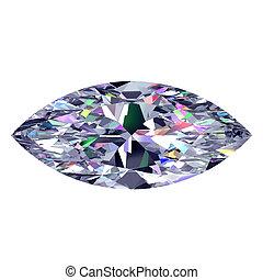 Diamond Marquise. 3D Model. - Diamond Marquise. 3D Model...