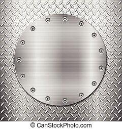 diamond metal background and circle plate