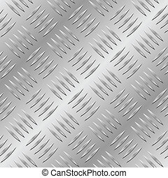 Diamond metal plate seamless vector pattern.