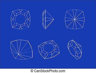diamond., modeluje, zbiór