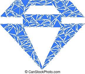 Diamond Mosaic of Triangles