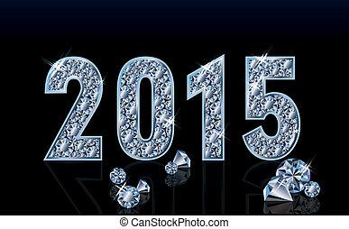 Diamond new 2015 year, vector