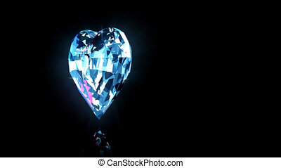 Diamond of heart - Render of diamond in the form of heart ...