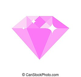 Diamond of Pink Color Vector Illustration