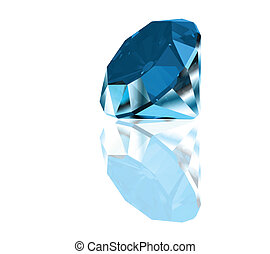 Diamond on a blue background. Vector