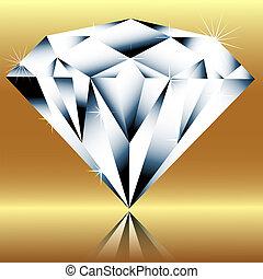 Diamond on a gold background
