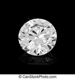 Diamond on black background