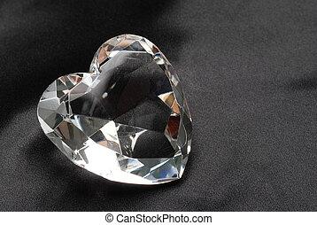 Diamond on black silk