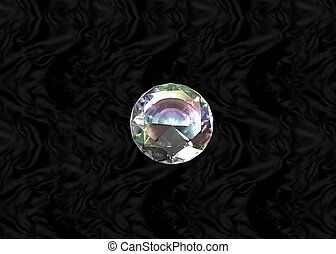 Diamond on black velvet