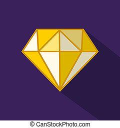Diamond on purple background