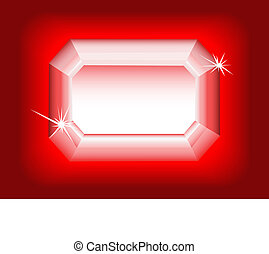 Diamond on red background.