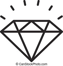 Diamond outline icon