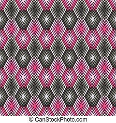 Diamond Outline Pattern Pink-Grey