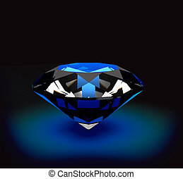 Diamond over a black  background
