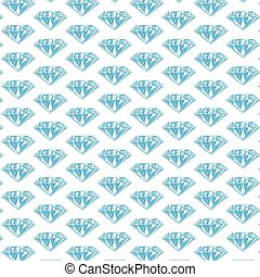 Diamond pattern vector. Blue jewel
